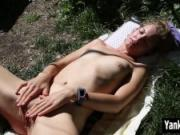 Slim Kara Masturbating Outdoors