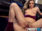PropertySex - Very attractive real estate agent cheers up client