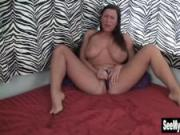 Busty Cherry Vibrating Her Twat