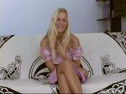 Blonde amateur Meggy masturbates
