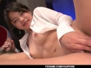 Eririka Katagiri tastes cock in POV mode until jizzed well