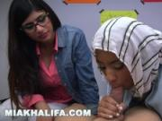 MIA KHALIFA - Arab Expert Cock Sucker Gives Friend Blowjob Lessons