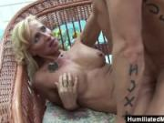 HumiliatedMilfs - Horny milf gets a young stud to stuff her ravenous pussy