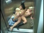 Love in an elevator livin it up as i\'m going down (clip)