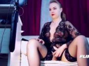 Sexy Mistress Stockings & Feet Tease