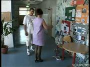 Professor breaks up a Dormitory Orgy