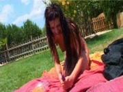poolside girl romp