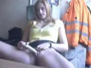 girl masturbating in front of webcam