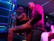 Bi club babes dancing and fucking