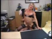 Secretary makes a splash in her bosses office (clip)