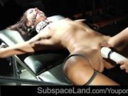 Tight ropes ball gag hard fuck for slutty young slave bad behaving