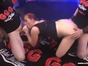 Redhead Babe Scarlett Scott gets in the Sperm Arena - Extreme Bukkake
