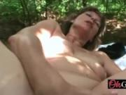 Hot granny gets banged outdoors