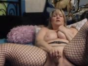Blond Canadian honey housewife with plump body squirting