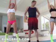 BANGBROS - Ashley Fires and Kennedy Leigh Yoga and Anal Sex Threesome