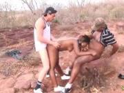 threesome african safari orgy