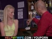 Barman fuck my wife please