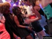 Bi club slags having public sex orgy
