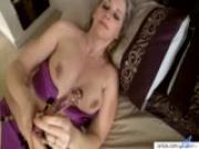Meet busty Tonya\'s orgasmic glass dick