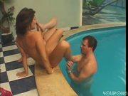 Poolside threesome 3/4