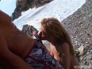Sonia On Beach