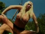 Big titted blonde gets a hard fucking - Future Works