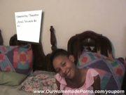 Ebony Babe Sucks Off Her Man