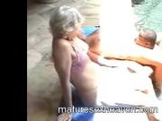 Granny Does Black In The Pool