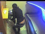 Voyeur webcam nude girl in solarium part2