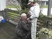 german fat woman sucking and fucking in public...BMW