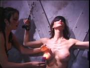 Lesbian chicks using nipple clamps