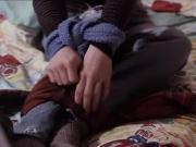 teen girl in wool scarf bondage 2