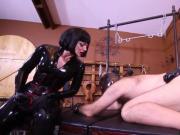 Brutal Mistresses strapon slave.