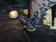 Lady L crush apples with leopard high heels