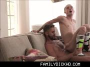 Cute Young Twink Step Son Fucked By Step Dad During Massage