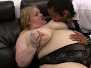 Black man cheating on wife with big boobs woman