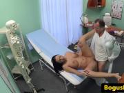 Busty euro patient creampied on docs desk