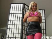 My slutty fishnets will get you nice and hard JOI