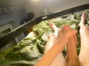 YOUNG TEEN MASTURBATING AND JERKING OFF !