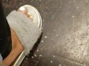 Cute ghetto chick candid white toes