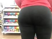 Ugly Redbone Phat Ass in Black Leggings Part 2