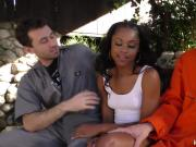 Black girl Amilian Kush suck and fuck two white boys