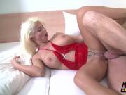 Blonde Milf with Silikon tits