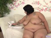 Bigass bbw pleasures her wet pussy with toys