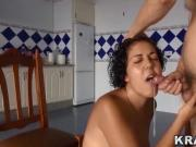Krakenhot - Homemade Voyeur video with a housewife sucking