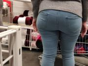 Nice big ass blonde milfs in tight jeans