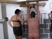 Hard Whipping of Two Slaves - Merciless Punishment