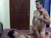 Young Oriental cutie wants some bareback daddy love