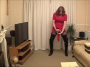 Alison in Thighboots wanking hard