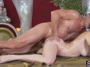 Busty brunette Nana gets pussy smashed by big dick George